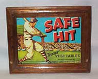 Safe Hit Texas Vegetables Original Framed Ad