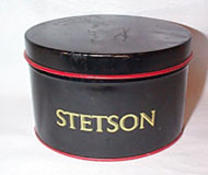 Stetson Hat advertising metal Hat Box