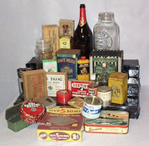 Vintage Bottles, Tins and Boxes