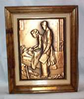 Freedom from Fear, Norman Rockwell Bronze Plaque