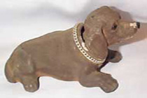 Bobble Head Dog, vintage dark brown