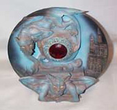 Gargoyle Plate with Large Red Stone