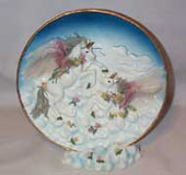 Pegasus Plate in pink and blue