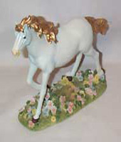 Unicorn with gold mane and tail