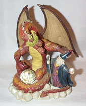 Wizard and Dragon Statue