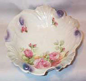 German Scalloped Hand Painted Bowl