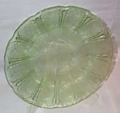 """Cherry Blossom"" Depression Glass Plate, 1939"