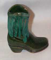 Frankoma small Green Boot