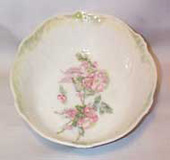 German Bowl, hand painted with pastel Flowers