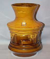 Haeger Orange and Brown Vase