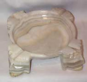 Onyx large white Mayan Ashtray