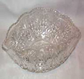 Cut Glass Oval Bowl