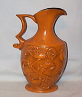 Haeger Tall Dark Orange Pitcher or Vase