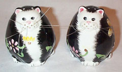 Whiskery Cat Salt & Pepper Shakers