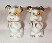 Brown and Yellow Dogs, Made in Japan Salt & Peppers