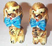 Dogs with Blue Bows, Made in Japan Salt & Peppers
