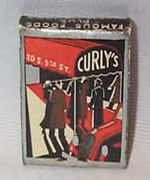Curly's Bar & Cabaret Minneapolis, Minn  Matchbook