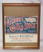 Kildow's Old Stock framed Cigar Label