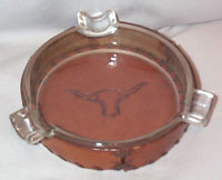 Leather Steer Ash Tray
