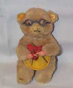 Wind-up Knitting Toy Bear, very old