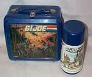 G. I. Joe PLastic Lunchbox and Thermos by Aladdin 1986
