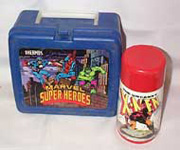 Marvel Superheroes Lunch Box with X Men Thermos 1990