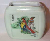 Pale Green Oriental Jar