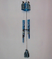 Blue Penguin Wind Chimes